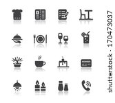 restaurant icons with white... | Shutterstock .eps vector #170473037