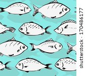 seamless pattern with fishes ... | Shutterstock .eps vector #170486177
