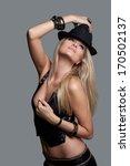 beauty fashion model girl in... | Shutterstock . vector #170502137