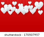 background beautiful red heart... | Shutterstock .eps vector #170507957