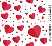 seamless hearts background on... | Shutterstock . vector #170512253