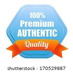premium authentic badge   Shutterstock .eps vector #170529887