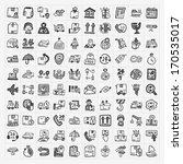 doodle logistics icons set | Shutterstock .eps vector #170535017