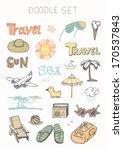 doodle set   travel | Shutterstock .eps vector #170537843