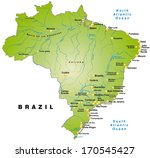 map of brazil as an overview... | Shutterstock . vector #170545427