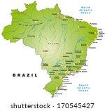 map of brazil as an overview... | Shutterstock . vector #170545427