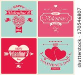 valentine's day greeting card... | Shutterstock .eps vector #170546807