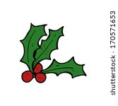 cartoon holly | Shutterstock . vector #170571653