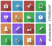 medical icons set with long... | Shutterstock . vector #170581247