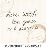 positive affirmation of law of... | Shutterstock . vector #170589167