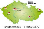 map of czech republic as an... | Shutterstock . vector #170592377