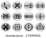 gadget icons set. gray   black...