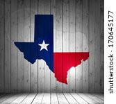 Texas Map And Wood Background