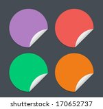 simple empty stickers  flat... | Shutterstock .eps vector #170652737