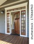 vertical shot of wooden front... | Shutterstock . vector #170666963