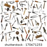 vintage collectible tools mix... | Shutterstock . vector #170671253