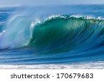 Ocean Wave Curl  Clean Ocean...