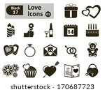 valentine's  icon. vector set... | Shutterstock .eps vector #170687723