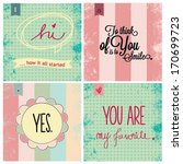 love cards | Shutterstock .eps vector #170699723