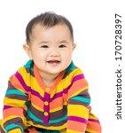 baby girl giggle | Shutterstock . vector #170728397