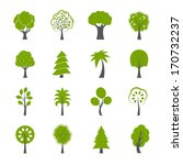collection of natural green... | Shutterstock .eps vector #170732237