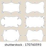 curly frames | Shutterstock .eps vector #170760593