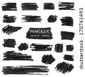 set of vector marker stains for ... | Shutterstock .eps vector #170761493