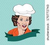 lady chef   retro illustration... | Shutterstock .eps vector #170772743