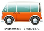 illustration of a bus on a... | Shutterstock .eps vector #170801573
