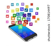 touch screen mobile phone with... | Shutterstock . vector #170814497