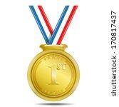 1st position gold medal vector... | Shutterstock .eps vector #170817437