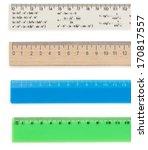 ruler isolated on white...   Shutterstock . vector #170817557