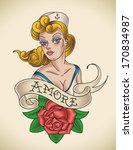 amore,art,banner,blondie,cap,cartoon,fashion,girl,hat,illustration,ink,jerry,lady,marines,navy