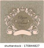 retro vintage emblem  floral... | Shutterstock .eps vector #170844827