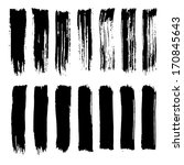 vector set of grunge brush... | Shutterstock .eps vector #170845643