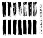vector set of grunge brush... | Shutterstock .eps vector #170845643
