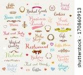 set of vintage bakery badges ... | Shutterstock .eps vector #170860913