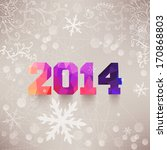 numbers  2014  colorful... | Shutterstock . vector #170868803