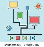 computer.emblem.play | Shutterstock .eps vector #170869487