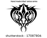 hand made tribal tattoo | Shutterstock .eps vector #17087806