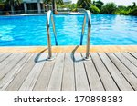 Swimming Pool With Stair And...