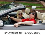 couple in convertible car | Shutterstock . vector #170901593