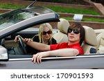 couple in convertible car | Shutterstock . vector #170901593