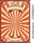 a red vintage circus background ... | Shutterstock .eps vector #170908247