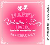happy valentines day card | Shutterstock .eps vector #170920313