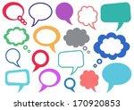 set of vector colorful speech... | Shutterstock .eps vector #170920853