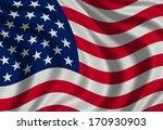 fabric texture of usa flag... | Shutterstock . vector #170930903