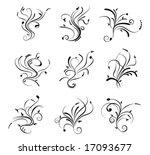 floral scrolls 2 | Shutterstock .eps vector #17093677