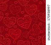 seamless pattern of hearts with ... | Shutterstock . vector #170938997