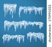 Ice Sheets With Icicles And...